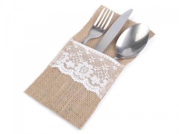 Jute Bestecktasche Als Tischdekoration 10 Stuck Mimis Bastelwelt